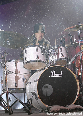 Andrew - Pearl Drums News 2008 - Photo by: Brian Goldschmied