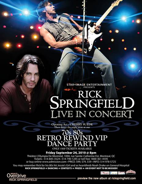Rick Springfield Live in Montreal September 24, 2010