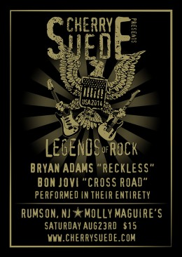 Cherry Suede - Legends of Rock - Rumson, NJ
